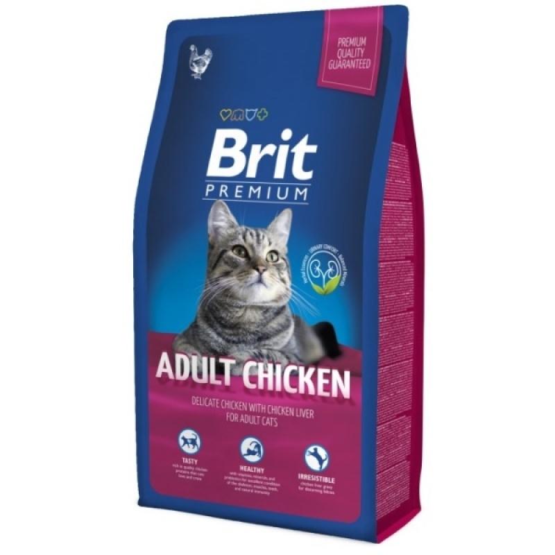 Brit Premium Cat Adult Chicken Сухой корм для взрослых кошек с курицей