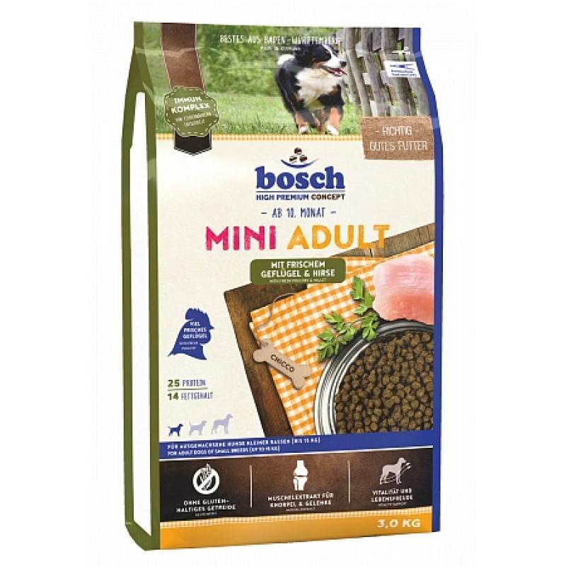 Bosch Mini Adult Poultry&Millet Корм для взрослых собак маленьких пород, Птица с Просом