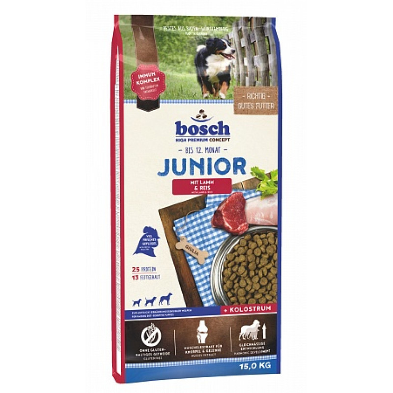 Bosch Junior Lamb & Rice Корм для щенков с чувствительным пищеварением, Ягненок с Рисом