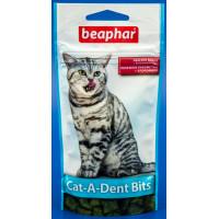 Беафар 11406 Cat-A-Dent Bits Подушечки для чистки зубов у кошек 35г*75шт