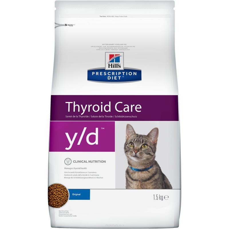 Hills Feline Y|D Лечебный корм для кошек, лечение гипертиреоза