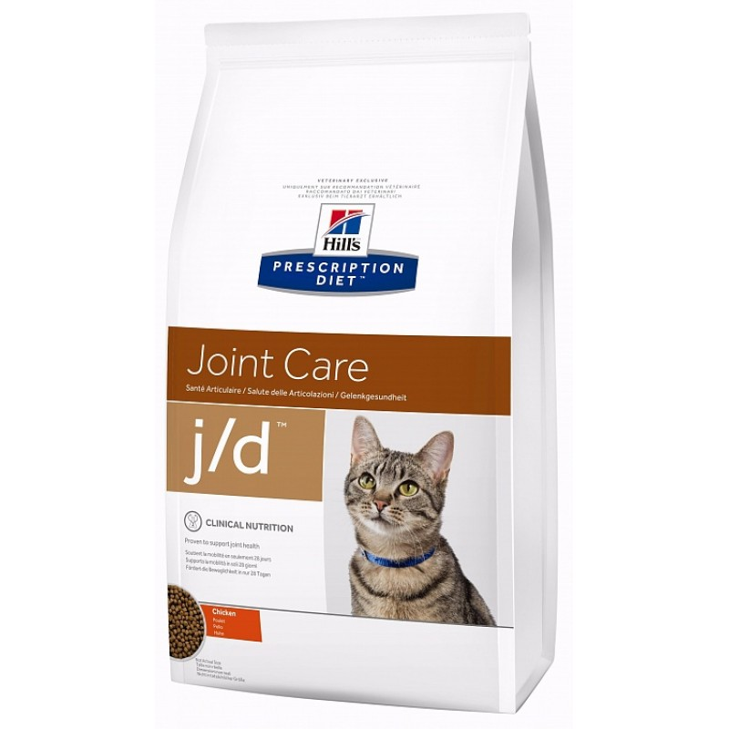 Hills Feline J|D Лечебный корм для кошек, лечение заболеваний суставов 2 кг