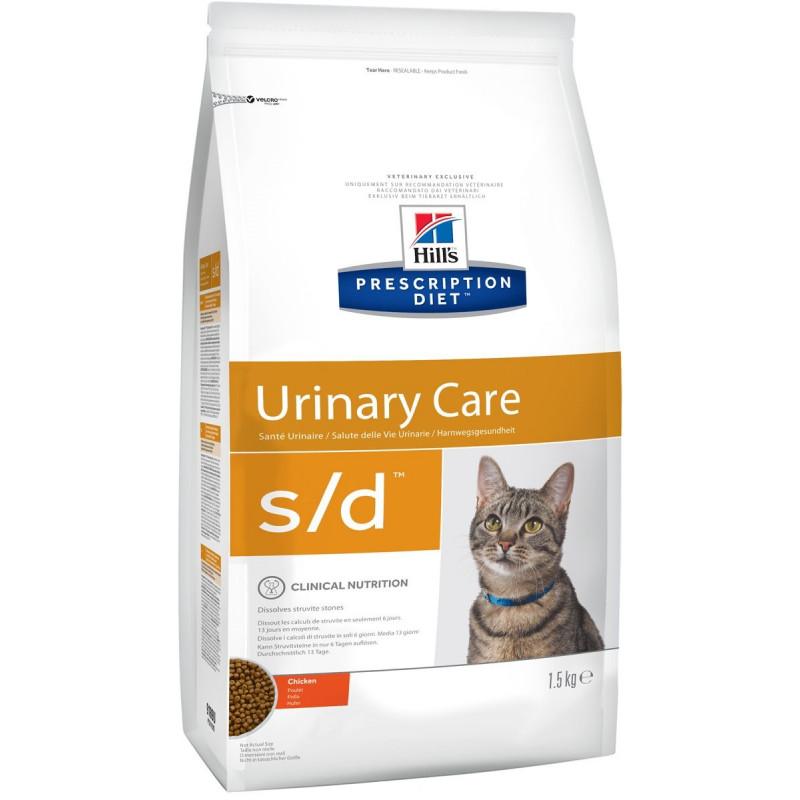 Hills Feline S|D Лечебный корм для кошек, лечение МКБ (струвиты)
