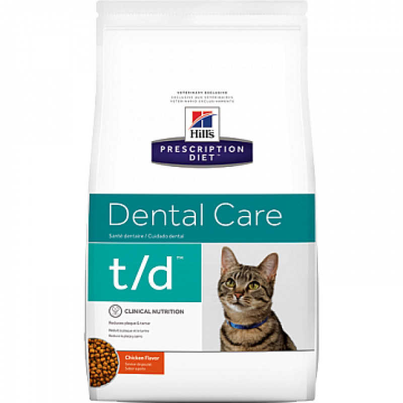 Hills Feline T|D Лечебный корм для кошек с заболеваниями ротовой полости