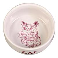 """TRIXIE 4010 Миска д/кошек """"Кошка"""", керамика 0,3л*ф11см"""