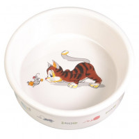 "Миска д/кошек ""Кошка-мышка"", керамика 0,2л*ф11,5см"