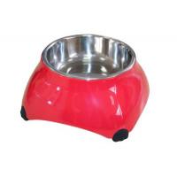 SuperDesign Миска меламиновая для собак высокая  160 мл малиновая