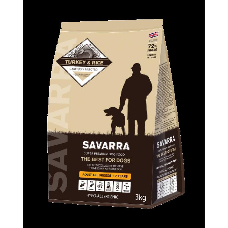 SAVARRA Adult Dog Turkey Сухой корм д/собак Индейка/рис
