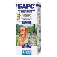 АВЗ Барс Шампунь д/собак и кошек от блох лечебный 250 мл