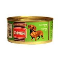 Четвероногий Гурман Готовый обед с Говядиной и Гречкой Консервы для собак с говядиной и гречкой