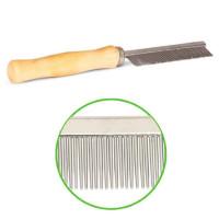 ТРИОЛ Расческа мелкий длинный зуб деревянная ручка