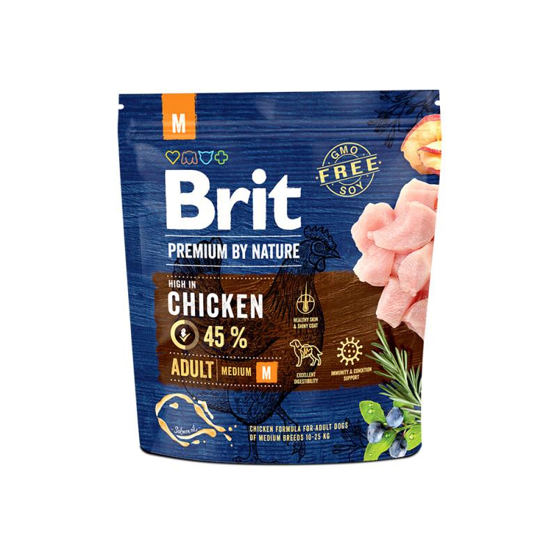 Brit Premium by Nature Adult M д/взрослых собак средних пород