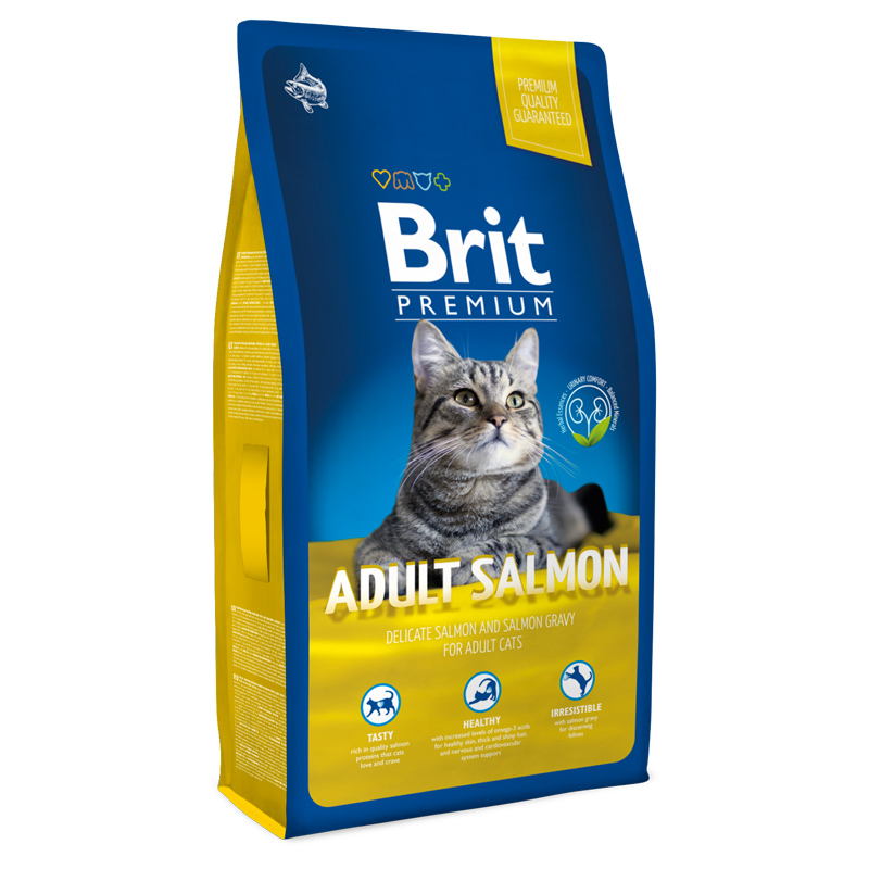 Brit Premium Cat Adult Salmon Сухой корм для взрослых кошек с лососем