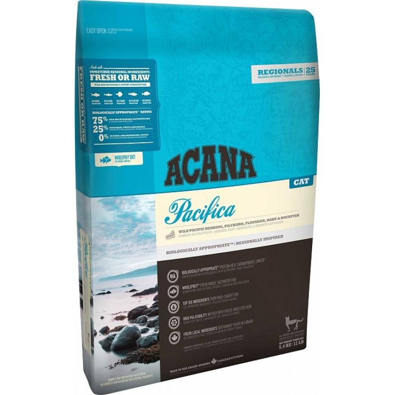 Акана  Regionals Pacifica Cat корм беззерновой д/кошек Рыба