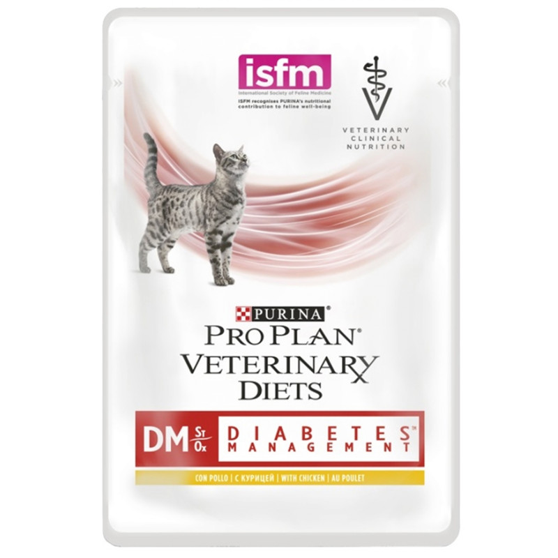 Purina Veterinary Diets DM Паучи для кошек при диабете