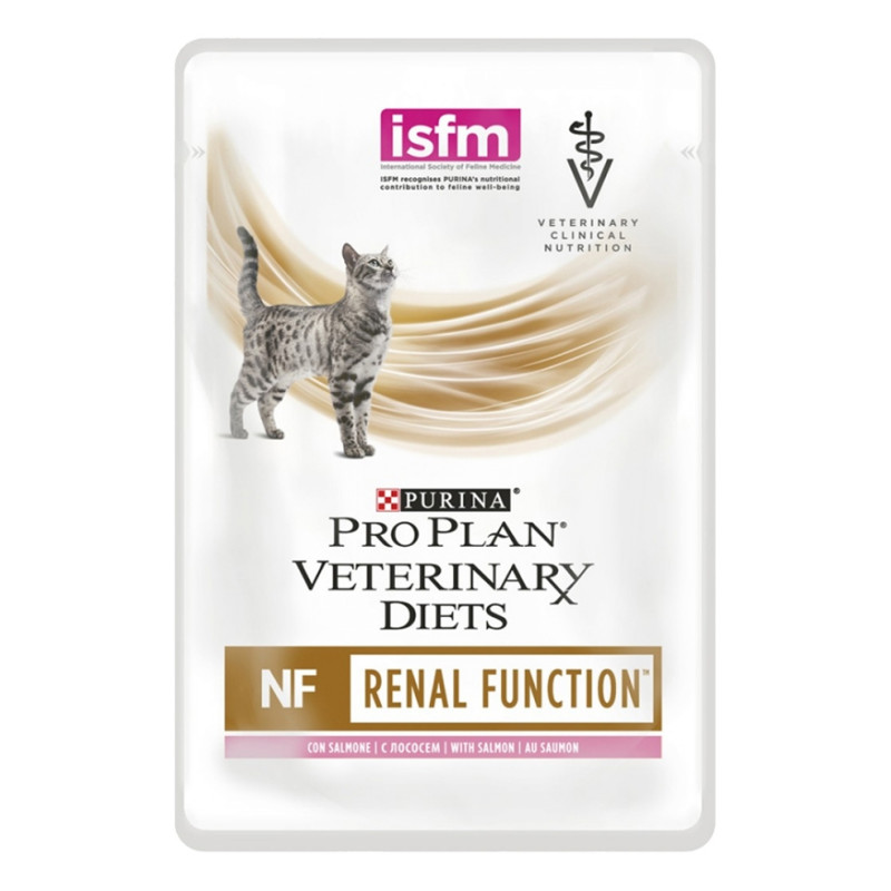 Purina Veterinary Diets NF Паучи для кошек при заболевании почек, Лосось
