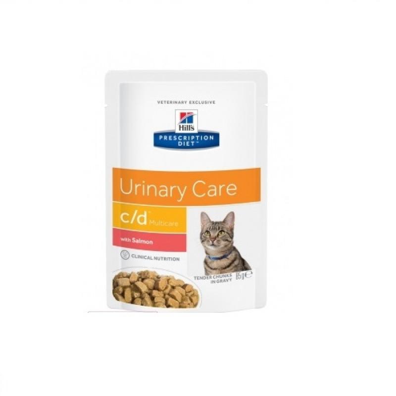Hills Feline C|D Консервы для кошек, профилактика МКБ, лосось