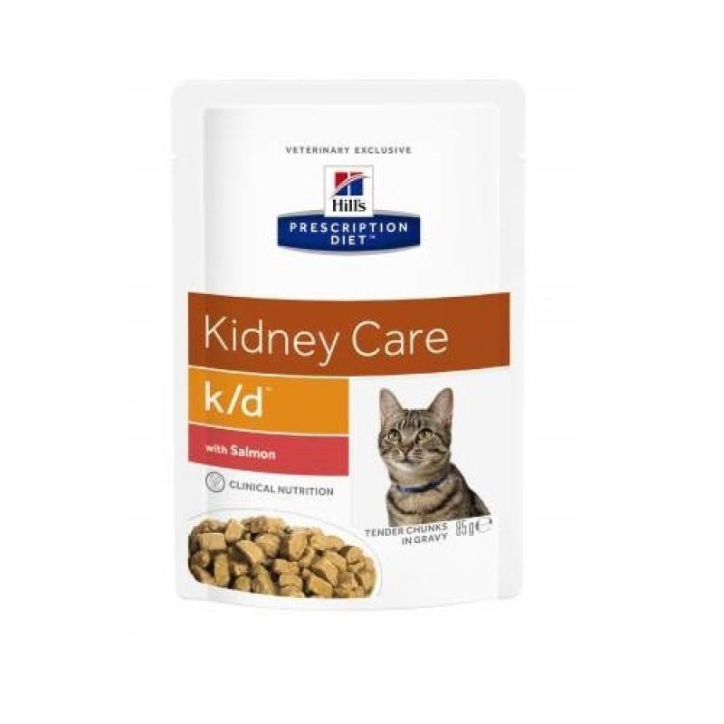 Hills Feline K|D Консервы для кошек, лечение заболеваний почек с лосось