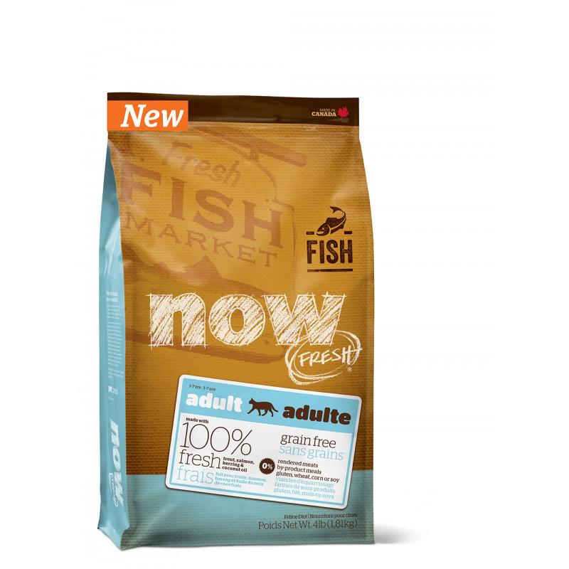 NOW FRESH Grain Free Fish Adult Recipe CF Беззерновой для взрослых кошек с форелью и лососем для чувствительного пищеварения