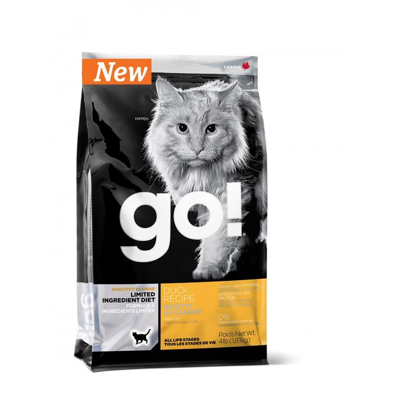 GO  Sensitivity + Shine Grain Free Duck Cat Recipe Беззерновой для котят и кошек с чувствительным пищеварением со свежей уткой