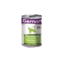 Gemon Cat Sterilised консервы для стерилизованных кошек кусочки кролика 415г