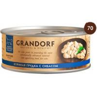 "GRANDORF Chicken Breast with Seabass - ""Грандорф"" куриная грудка с сибасом для кошек - 70 гр"
