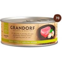 """GRANDORF Fillet of Tuna with Crab Meat - """"Грандорф"""" филе тунца с мясом краба для кошек - 70 гр"""
