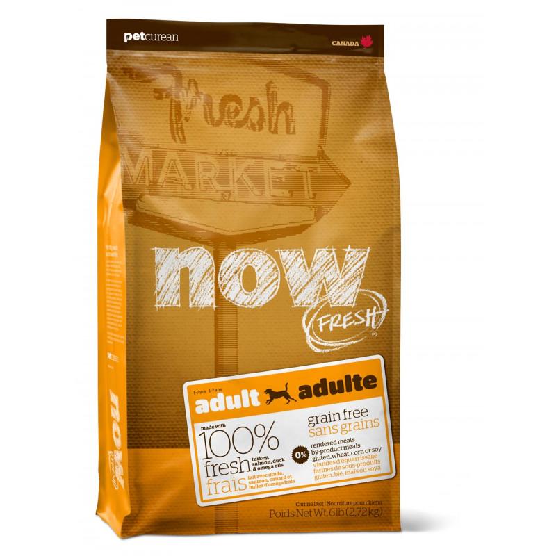 NOW FRESH™ Беззерновой для Взрослых собак с Индейкой, Уткой и овощами (Fresh Adult Recipe Grain Free)