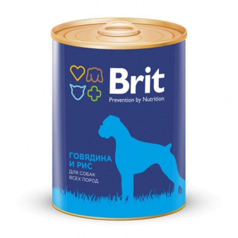 Brit Beef Rice Консервы для собак с говядиной и рисом