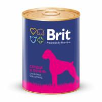 Brit Heart Liver Консервы для собак с сердцем и печенью
