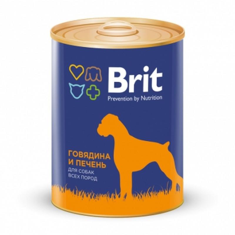 Brit Red Meat Liver Консервы для собак с говядиной и печенью