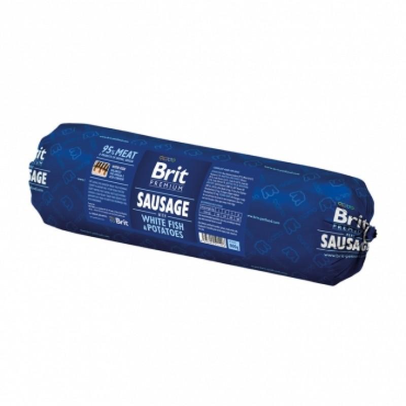 Brit Колбаса для собак «Sausage with Fish & Potatoes» Белая рыба с картофелем