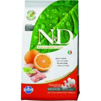 FARMINA N&D беззерновой корм д/собак всех пород Рыба с Апельсином