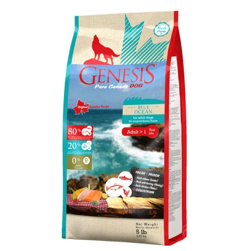 Genesis  Blue Ocean Adult для взрослых собак всех пород с лососем, сельдью и курицей