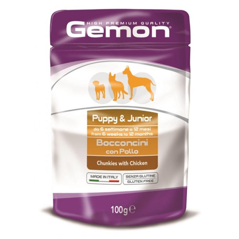 Gemon Dog Pouch паучи для собак кусочки дичи 100г