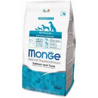 Monge Dog Speciality Hypoallergenic корм для собак гипоаллергенный лосось с тунцом 12кг