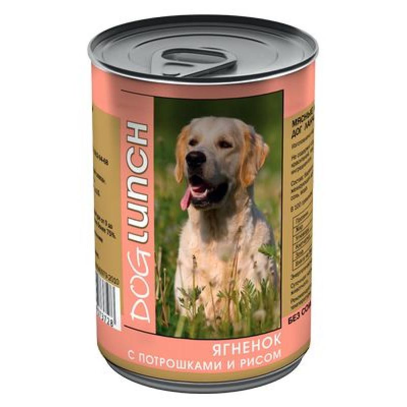 ДОГ ЛАНЧ консервы д/собак Ягненок с потрошками и рисом в желе 410гр