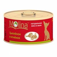 Molina «Цыпленок и ягненок» Консервированный корм для собак
