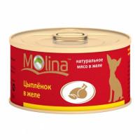 Molina «Цыпленок» Консервированный корм для собак