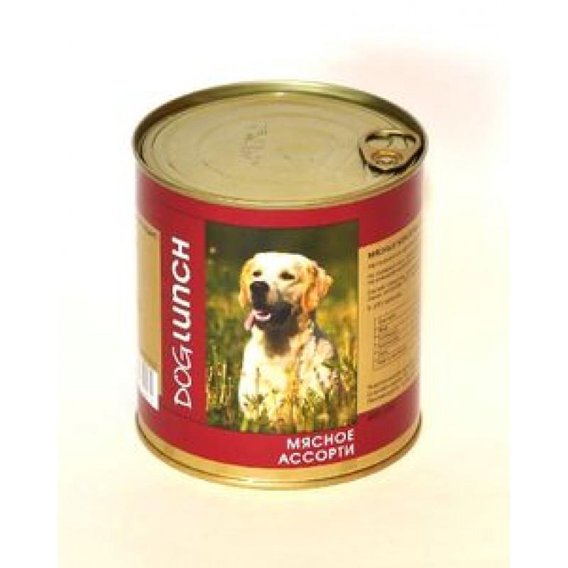ДОГ ЛАНЧ консервы д/собак Мясное ассорти в желе 750гр
