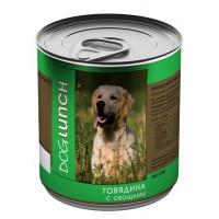 ДОГ ЛАНЧ консервы д/собак Говядина с овощами 750гр