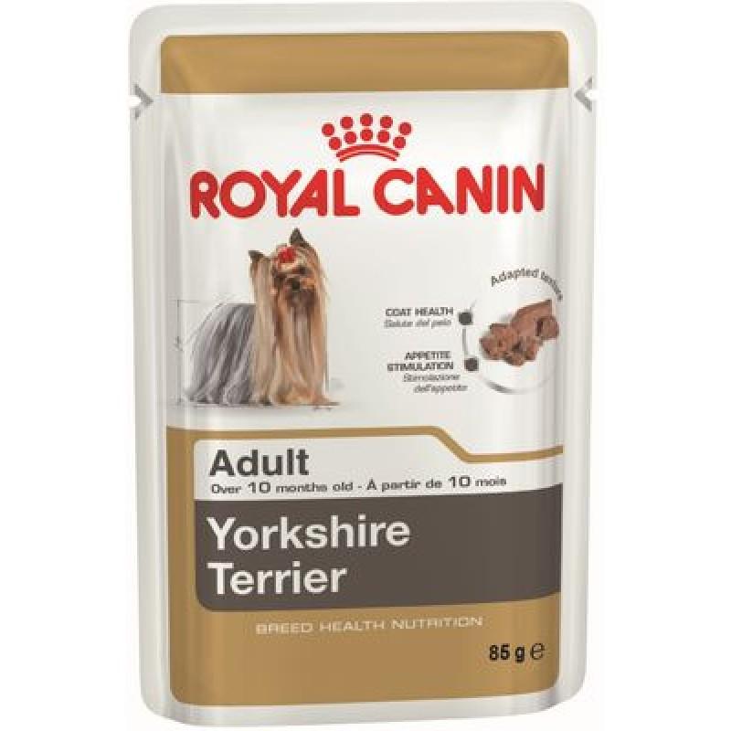 Royal Canin Yorkshire Terrier Adult Влажный корм для собак породы Йоркширский терьер страше 10 месяцев (ПАШТЕТ)