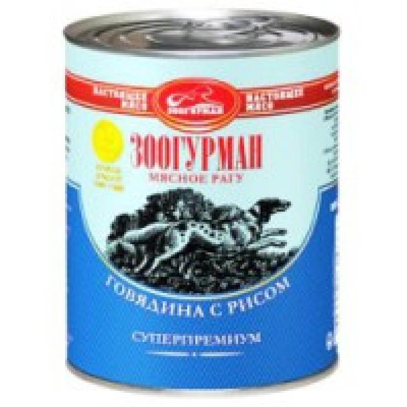 Зоогурман Мясное Рагу Говядина с Рисом Консервы для собак, говядина с рисом