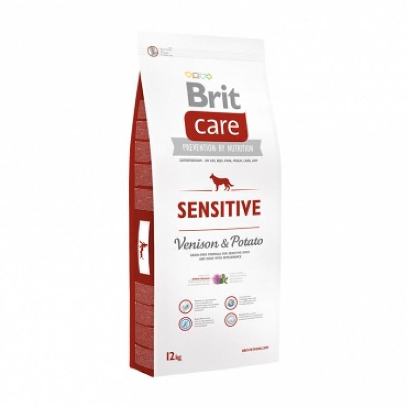 Brit Care Sensitive Venison д/собак с чувствительным пищеварением оленина с картофелем