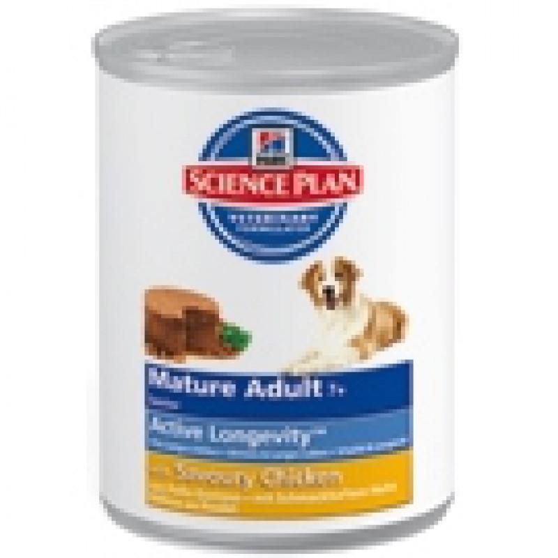 Hills Mature Adult 7+ Savoury Chicken Консервы для пожилых собак старше 7 лет