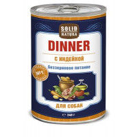 SOLID NATURA  Dinner Консервированный корм д/собак Индейка