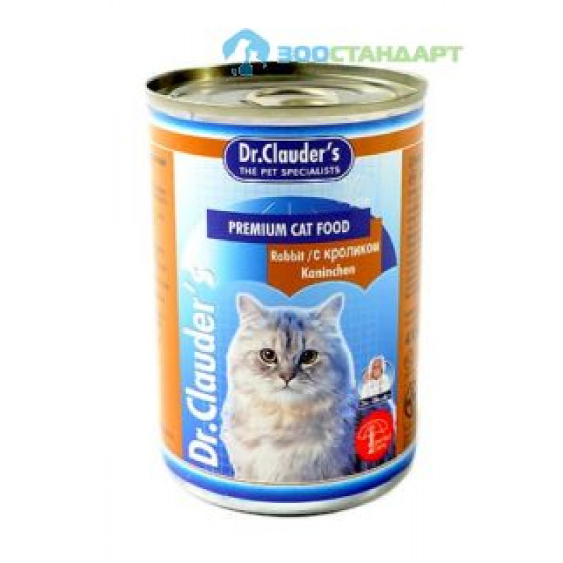 Др.Клаудер кон.д/кошек Кусочки в соусе Кролик 415гр