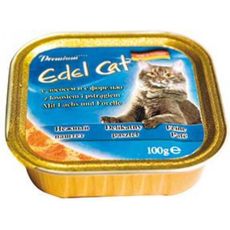 Эдель Кэт  кон.д/кошек паштет с Лососем и с Форелью 100г