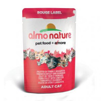 ALMO NATURE ROUGE LABEL ХОЛИСТИК кон. д/кошек с Тунцом и Лобстером 55гр