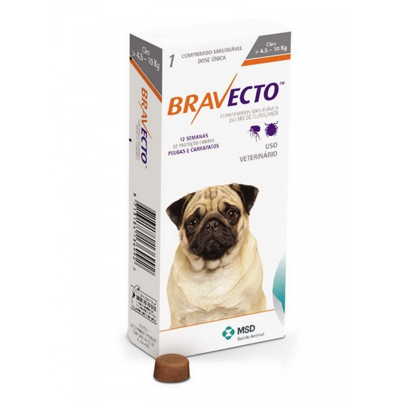 Бравекто 250мг таблетка инсектоакарицидная д/собак 4,5-10кг